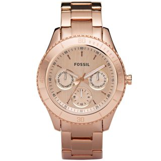 Fossil ES2859 Womens Stella Rose Gold Plated Stainless Steel Dual