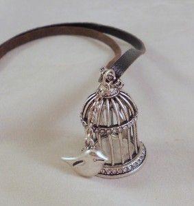 Fossil Brand Jewelry Glitz Birdcage Pendant Necklace Silvertone
