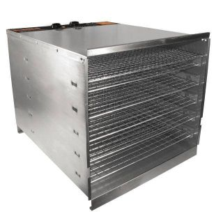 Stainless Steel Food Dehydrator Jerky Maker 10 Trays New