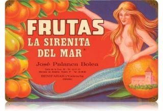 Frutas Food and Drink Vintage Metal Sign