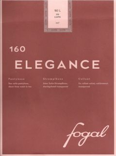 Fogal Elegance 11 Denier STW Tights Pantyhose Large Brasil Mahogany