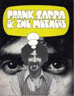 Frank Zappa Australia 1973 Tour Concert Program Autograph ORG