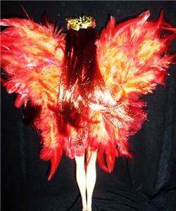 Phoenix Fire Fairy barbie doll ooak dakotas.song wings red flame