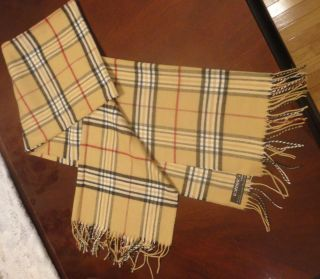 NEW V Fraas Cashmink Fraasberry Womens Classic Camel Plaid Scarf