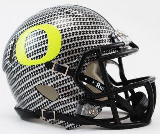 Oregon Ducks NCAA Mini Speed Football Helmet Carbon Fiber Hydrofx by
