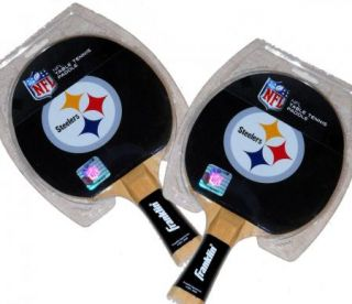 Franklin Sports NFL Pittsburgh Steelers Table Tennis Paddle Ping Pong