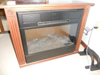 Heat Surge Amish Portable Electric Fireplace