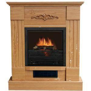 Kozy World Winchester II Portable Electric Fireplace Heater OAK Free