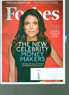 Forbes magazine June 2011 Celebrity Money makers