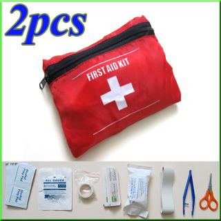 2X Emergency First Aid Kit Bag Pack Travel Sport Survival Rescue