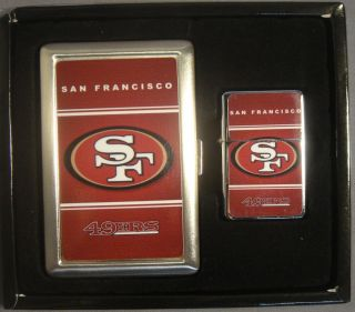 San Francisco 49ers NFL Classic Logo Cigarette Case Wallet Lighter