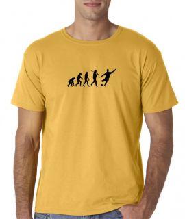 Mens Evolution of Man Soccer Football Futbol Sports T Shirt Tee