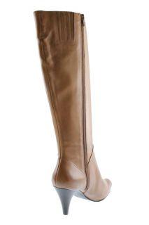Franco Sarto New Advent Tan Leather Heels Side Zipper Knee High Boots