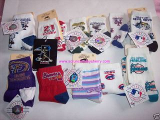 Childrens Kids Sport Novelty Socks for Bare Feet MLB