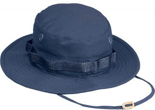 Navy Blue Military Style Wide Brim Fishing Boonie Hat