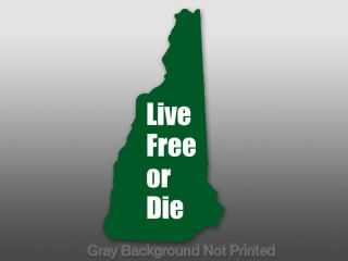 Live Free or Die New Hampshire Shaped Sticker Decal