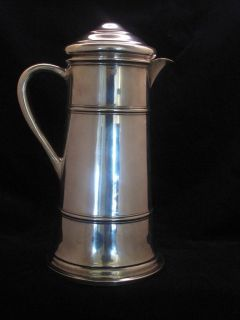 Frank M Whiting Co Sterling Silver 10 3 4 inchs Tall Jug  Early