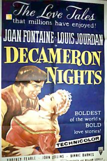 Nights Joan Fontaine Hugo Fregonese 1952 Movie Poster 1011