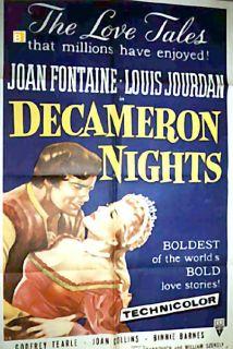 Nights Joan Fontaine Hugo Fregonese 1952 Movie Poster 1011
