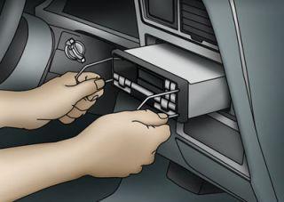 Ford Lincoln Mercury Radio Removal TOOLS 1998 1999 2000 2001 98 99 01