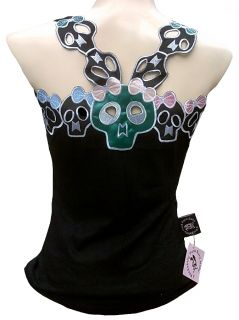 Rockabilly Punk Rock Baby Cute Skull Girls NRoll Sugar Emo Tank Top