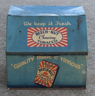 VINTAGE BEECH NUT CHEWING TOBACCO COUNTRY STORE TIN DISPLAY