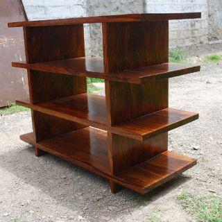 Handmade Solid Wood Entertainment Media Center 5 Shelves Bookcase