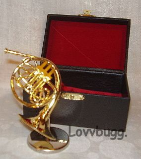 French Horn Mini Instrument for American Girl & MSD BJD Doll COOLEST