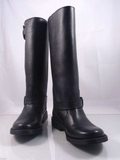 Steve Madden Frencchh Women Leather Riding Boots in Black