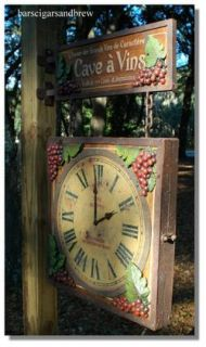 Winery Trade Sign Clock Old French Paris Styl Big California Iron