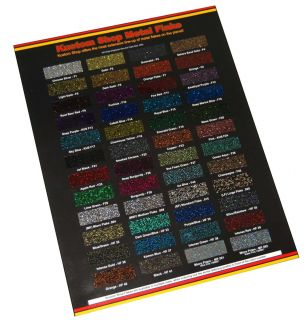 Custom Shop Metal Flake Chip Color Chart Auto Car Paint Gun Custom