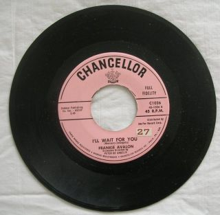 I'll Wait for You Frankie Avalon 45 C1026 G VG