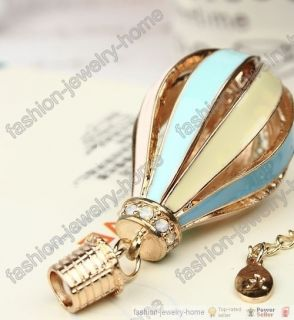 New Fly Dream Enamel Colorful Fire Balloon Pendant Necklace for Lady