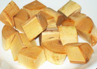 Fresh Apple Wood Chunks for Smoking Meat 1 Pound No Bark