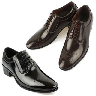 New Mens Dress Formal Shoes Lace Up Oxfords Black Brown Stylish Modern