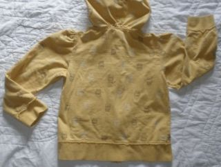 Forever Orchid Owl Applique Print Zip Hoodie Sweatshirt Jacket Gold