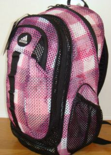 Adidas Forman Mesh Black Pink Backpack School Bag Mochila NEW NWT