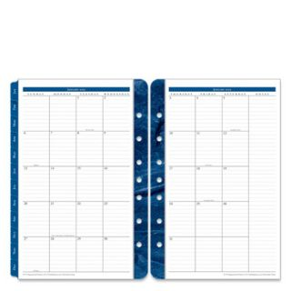 FranklinCovey Classic Monticello Two Page Monthly Calendar Tabs   Jan