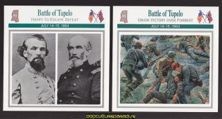 Mississippi 1864 U s Civil War 2 Cards Bedford Forrest Smith
