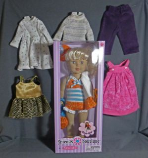 Friends Boutique Madam Alexander Posable Bendable Doll Wardrobe New