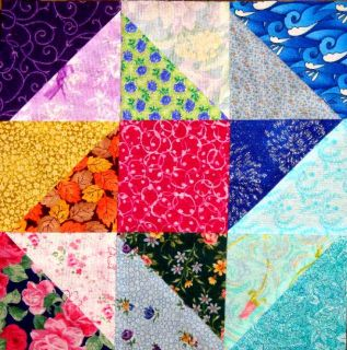 16 Friendship Stars Quilt Top Fabric Blocks Quilting