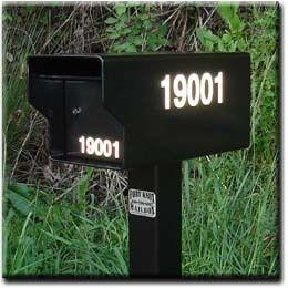 Fort Knox Mailbox 3 Reflective Vinyl Address Decals