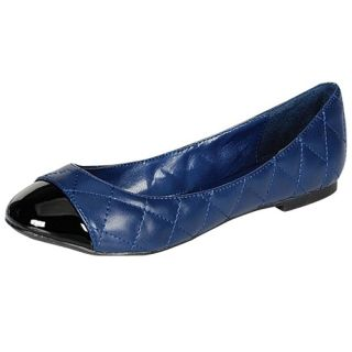 Blue Womens Casual Quilted Ballet Flats Size 5 5 to 10