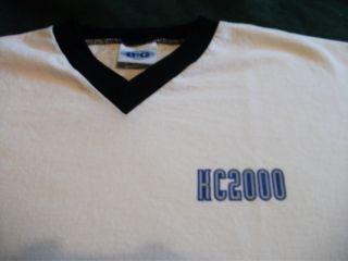 KC 2000 Tour Shirt V Neck Size Large Fripp Belew Authentic RARE