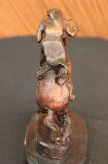 CHEYENNE  by Frederic Remington Bronze Handcast Sculpture w/ Marble