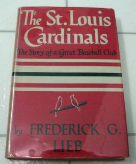 ST. LOUIS CARDINALS Putnam Baseball Book SIGNED By 5 Cards 1st Edition