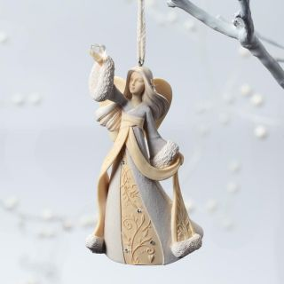 Foundations Angel with Heart Christmas Tree Ornament Artist Karen Hahn