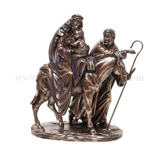 Inspiration Figurine Mary Joseph And Baby Jesus Flight To Egypt Statue