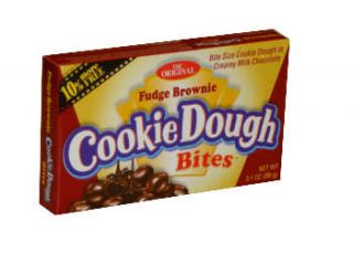 Cookie Dough Fudge Brownie Theater Size. 3.1 oz box   Movie size candy