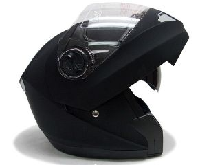 Black Dual Visor Modular Motorcycle Flip Up Helmet XL